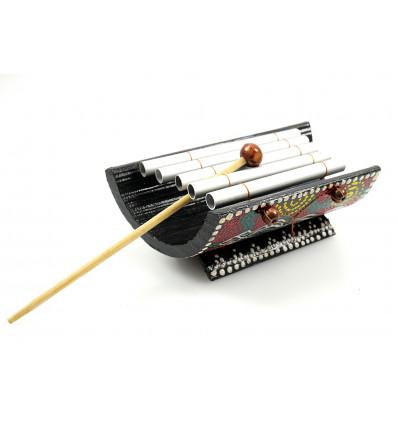 Mini xylophone bambou artisanal enfant, instrument musique africain.