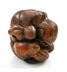 Buddha pianto yogi pianto liberatore. L'acquisto di una statua di legno.