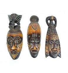 Masques africains en bois pas chers. Achat déco africaine pas chère.