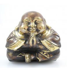 Il Buddha che ride cinese. Statuetta di bronzo. Decorazione cinese. Acquisto.