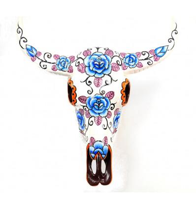 Crâne tête de buffle, décoration murale mexicaine, achat pas cher.