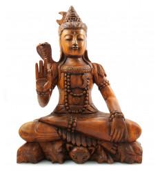 La statua di lord Shiva in legno, decorazione, l'Induismo, l'India, il mestiere, l'acquisto.