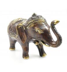 Statuette éléphant indien bronze. Objet déco de collection original.