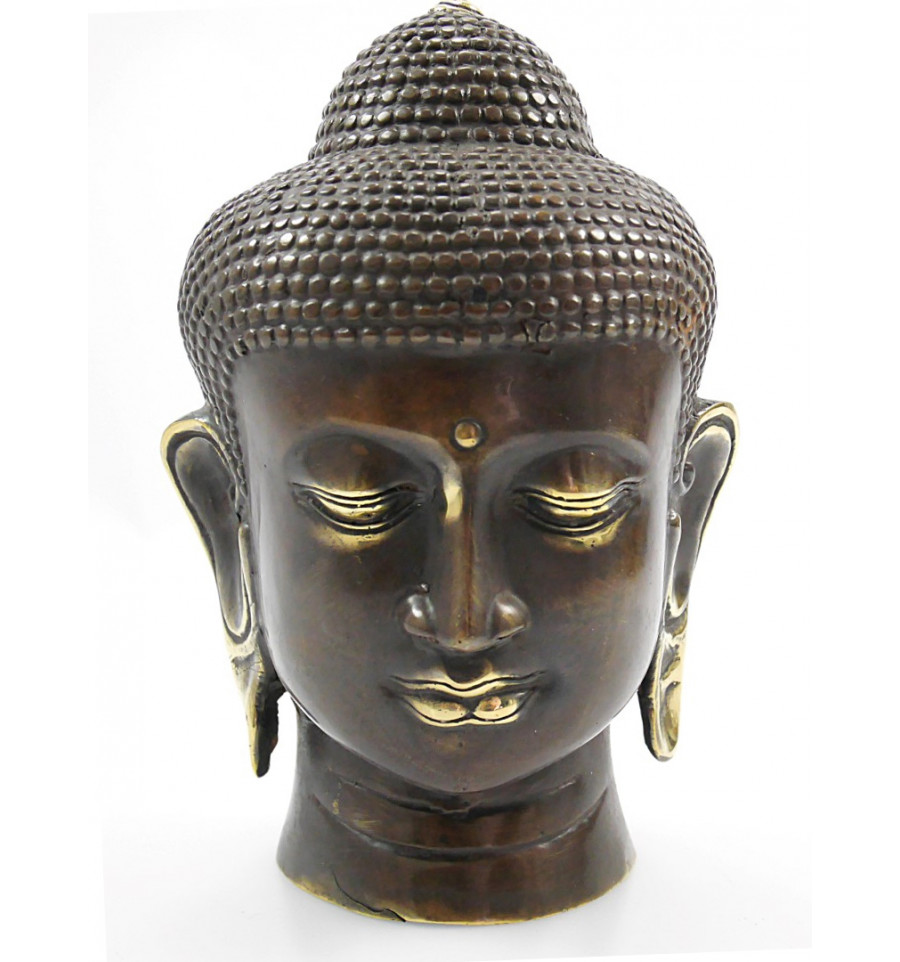 fabulous tte de bouddha en bronze achat dcoration zen artisanat de bali with achat statue bouddha. Black Bedroom Furniture Sets. Home Design Ideas