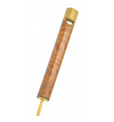 Flute whistle slide bamboo. Decoy accessory sound.