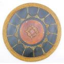 Set de table bali rond bois exotique ethnique chic. Dessous de plat.