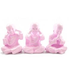 3 monaci della saggezza del buddha. Deco di boemia etnico chic e moderno.