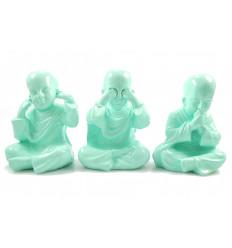 3 moines bouddha de la sagesse. Décoration asiatique chine moderne.