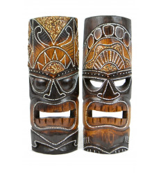 Tiki mask wooden cheap. Deco wall Tiki Maori handcrafted.
