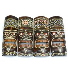Décoration ethnique masque Tiki Maori pas cher, vente en ligne.