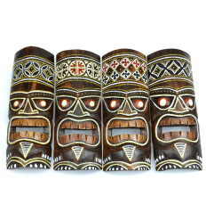 Ethnic decoration Tiki mask Maori cheap, sale online.