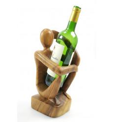 Porte bouteille présentoir à bouteille de vin original idée cadeau.