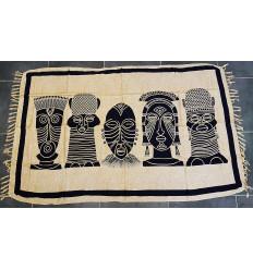 Attaccatura di parete decorazione africana parete artigianale batik tradizionale.