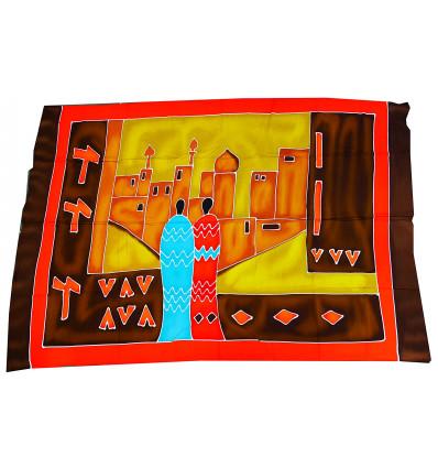 Wall hangings african batik, textile decoration multicolor.