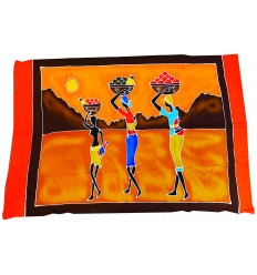 Wall hangings african batik, pareo ethnic african multicolored.
