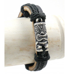Bracelet Tiki polynesian for man - jewelry surf / beach / holiday