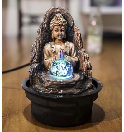 Fontana Zen Buddha, la Pace, la palla di illuminazione a Led. Acquistare a buon mercato.