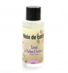 Extrait de parfum pour diffuseur, senteur noix de coco Grasse France.