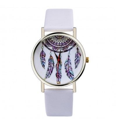 "Watch fantasy wife ""Bohemian"" pattern Catches Dreams - white strap"