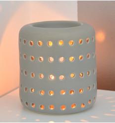 """Brule profumo / supporto di candela """"Coliseo"""" in ceramica grigio"""