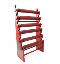 Large display bracelets and watches 6 rods, in wood red hue