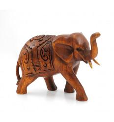 Figurina proboscide di elefante in aria, porte bonheur feng shui india.