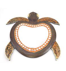 Miroir mural tortue, décoration du monde. Artisanat équitable.