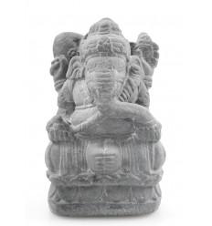 Statuette Ganesh H20cm en pierre reconsituée