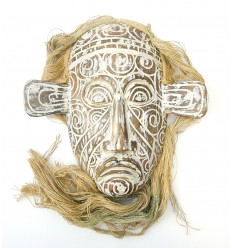 Masque primitif de Bornéo, inspiration Arts Premiers.