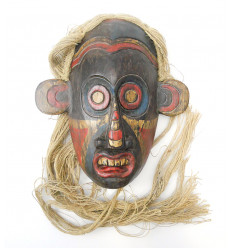 Mask primitive tribal arts Borneo. Decoration cosmopolitan chic.