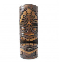 Totem Tiki wood, Trophy statuette maori, purchase decoration Hawaii.