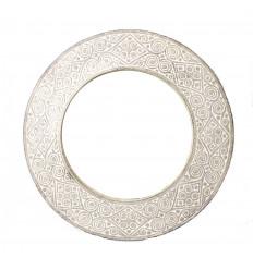 Specchio di forma rotonda, Sole, diametro 40cm. Deco etnica.