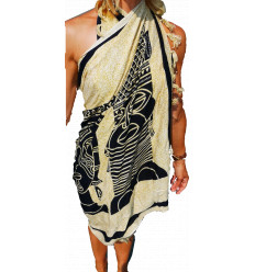 Sarong beach Sheet Hanging Shawl - Pattern masks