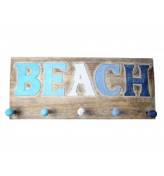Appendiabiti a parete, gancio appendiabiti, ganci di legno, decorativo marina ocean beach.