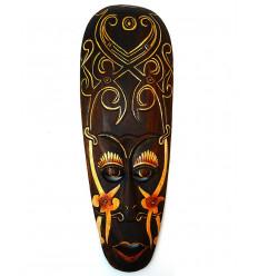 Masque Africain en bois 50cm. Déco murale ethnique africaine.