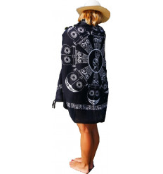 Sarong, vestito, o la spiaggia di gonna. Acquisto pareo Bali motivo tiki.