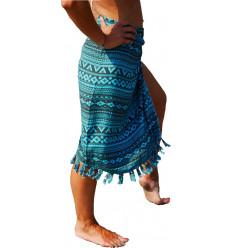 Pareo Bali turchese, ha rubato aztec abito upe di spiaggia non costoso.