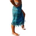 Paréo de Bali turquoise, étole aztèque robe upe de plage pas cher.