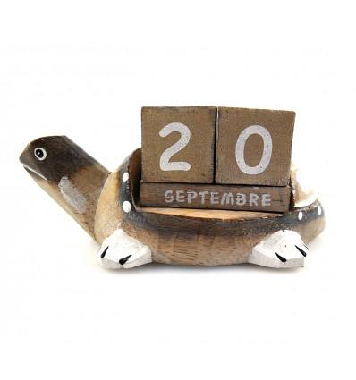 Calendario perpetuo Tartaruga in legno