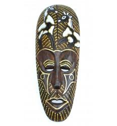 Masque Africain en bois 30cm motif Girafe.