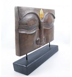 Décoration Zen Bouddha asiatique de chambre. Sculpture Bouddha bois.