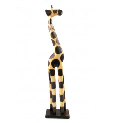 Statue giraffe wood african decoration home of the world cheap.