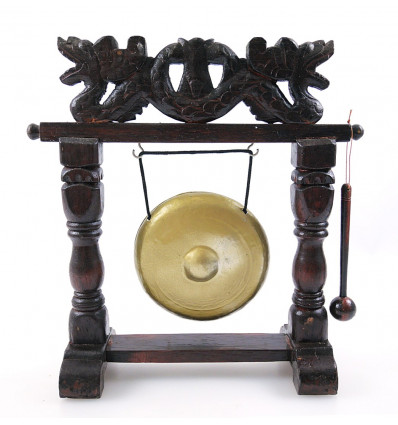 Gong table chinese on base. Asian decor dragon purchase.