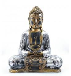 Statue bouddha assis méditation doré. Décoration zen asiatique achat.