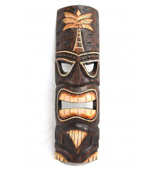 Tiki mask h50cm carved wood. handcrafted.