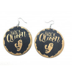 Earrings African girl - Black Queen