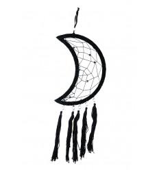 Attrape reves forme lune noir blanc. décoration chambre originale.