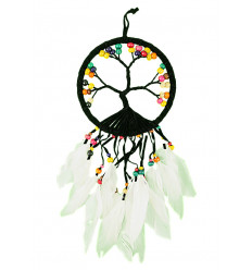 Giant dream catcher Yin Yang 60x25cm black and white
