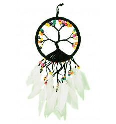 Cattura-sogni forma l'Albero della Vita 45x17cm perle multi-colored