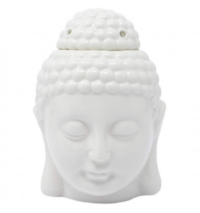 Brule perfume head of the Buddha Zen ceramic craft white